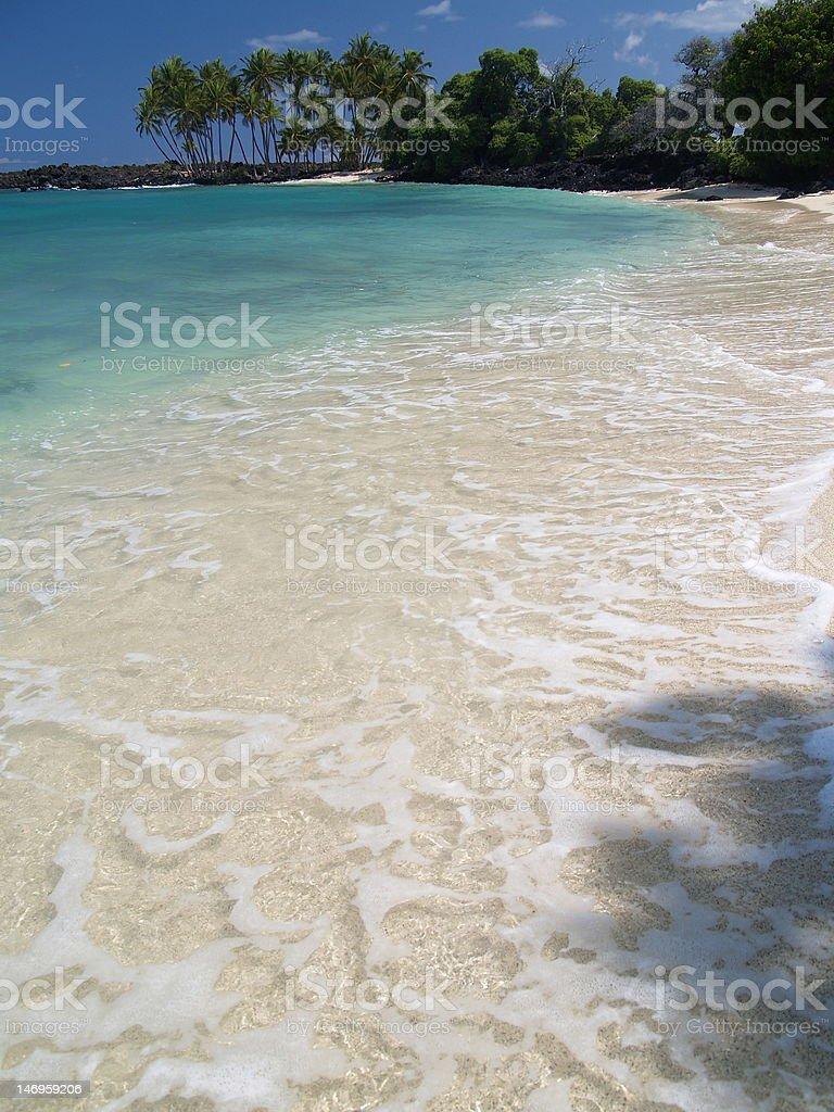 Mahaiula Beach (Kekahakai state park) at Hawaii stock photo