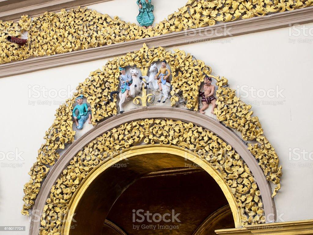 Mahamuni Buddha Temple, Paya, Mandalay, Myanmar stock photo
