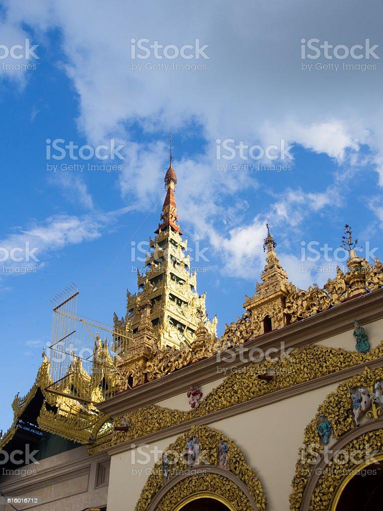 Mahamuni Buddha Temple Paya stock photo