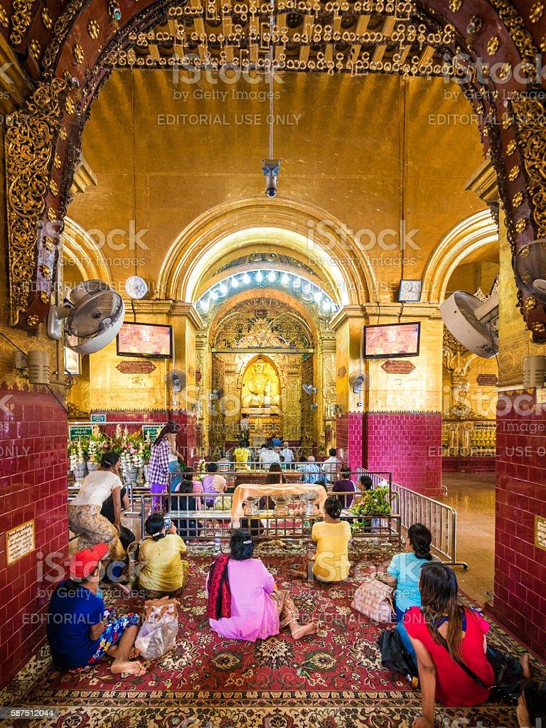 Mahamuni Paya in Mandalay, Myanmar stock photo