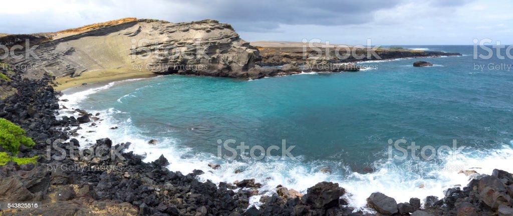 Mahana Bay stock photo