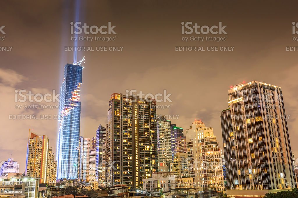 Bangkok, Thailand- August 29, 2016: Mahanakorn skyscraper. stock photo