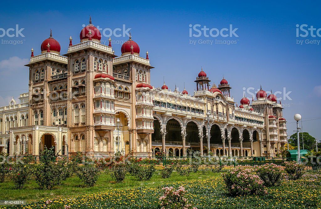 Maharajahs Palace in Mysore stock photo