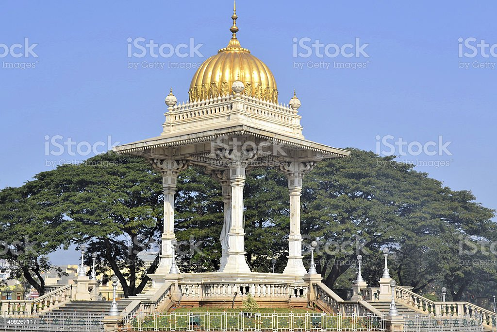 Maharaja's pavillon in India stock photo