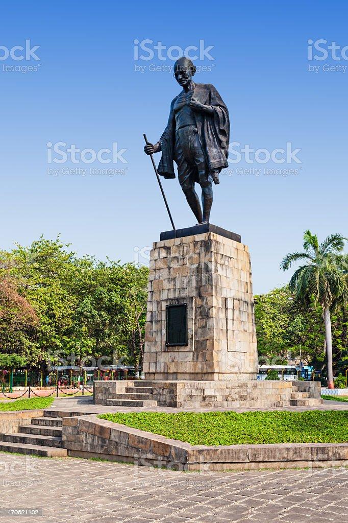 Mahatma Gahdhi statue stock photo