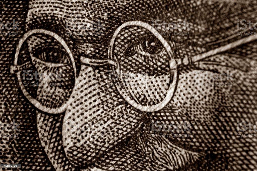 Mahatma Gandhi on Bank Note stock photo