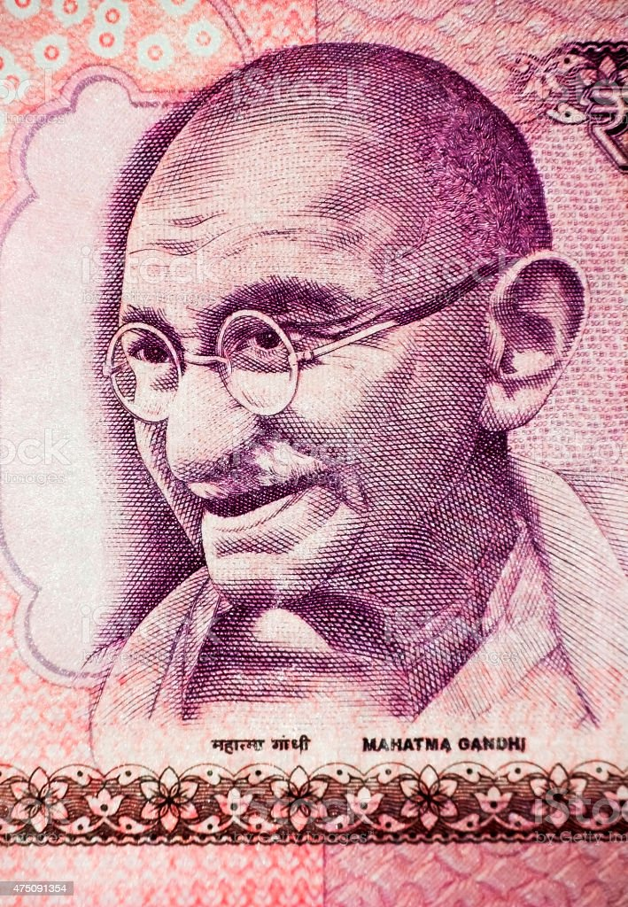 Mahatma Gandhi on Currency Note 2 stock photo