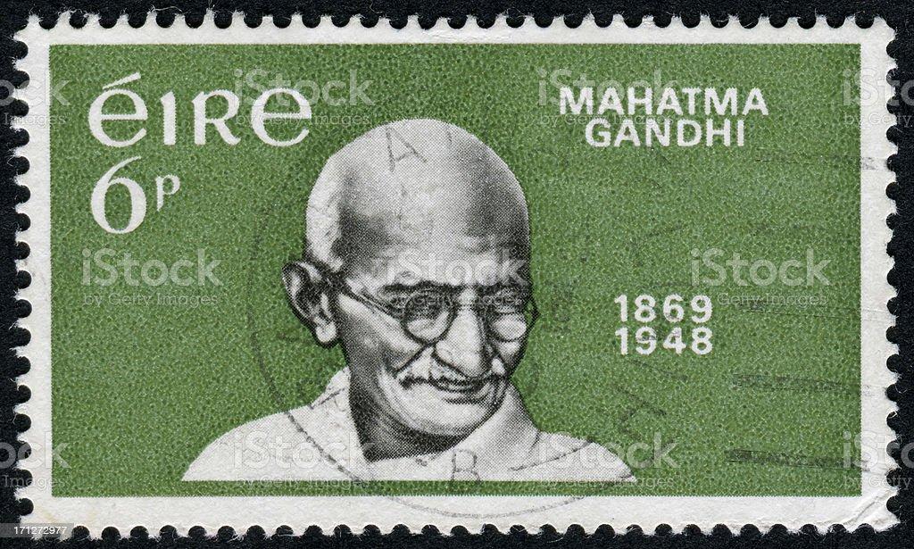 Mahatma Gandhi Stamp stock photo