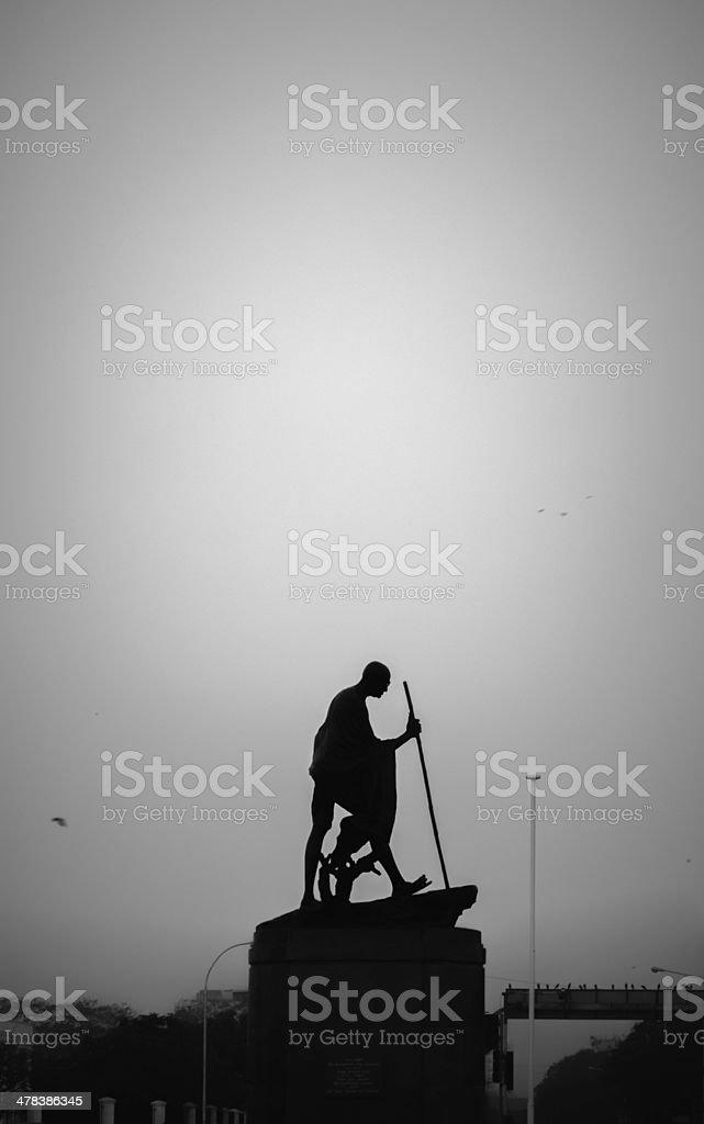Mahatma Gandhi Statue stock photo