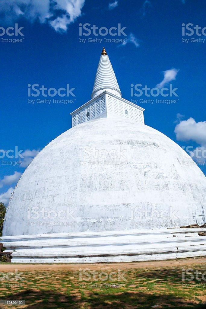Mahatupa or Ruwanweliseya big Dagoba in Anuradhapura stock photo