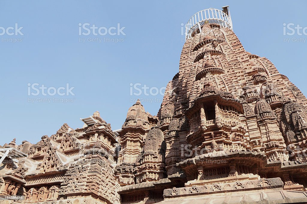 Mahavira Jain Temple, Osian Rajasthan, India stock photo