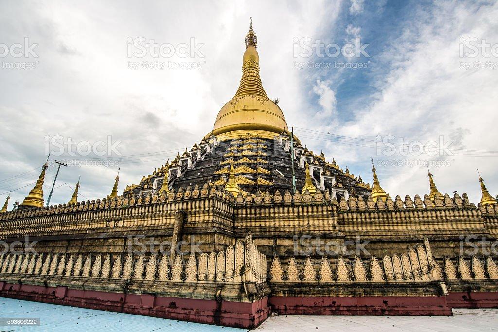 Mahazedi Pagoda of Bago, Myanmar. stock photo