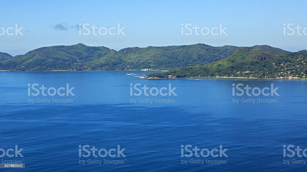 Mahe Island in the Indian Ocean stock photo
