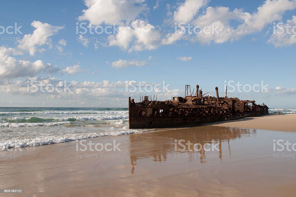 Maheno wreck, Fraser Island stock photo