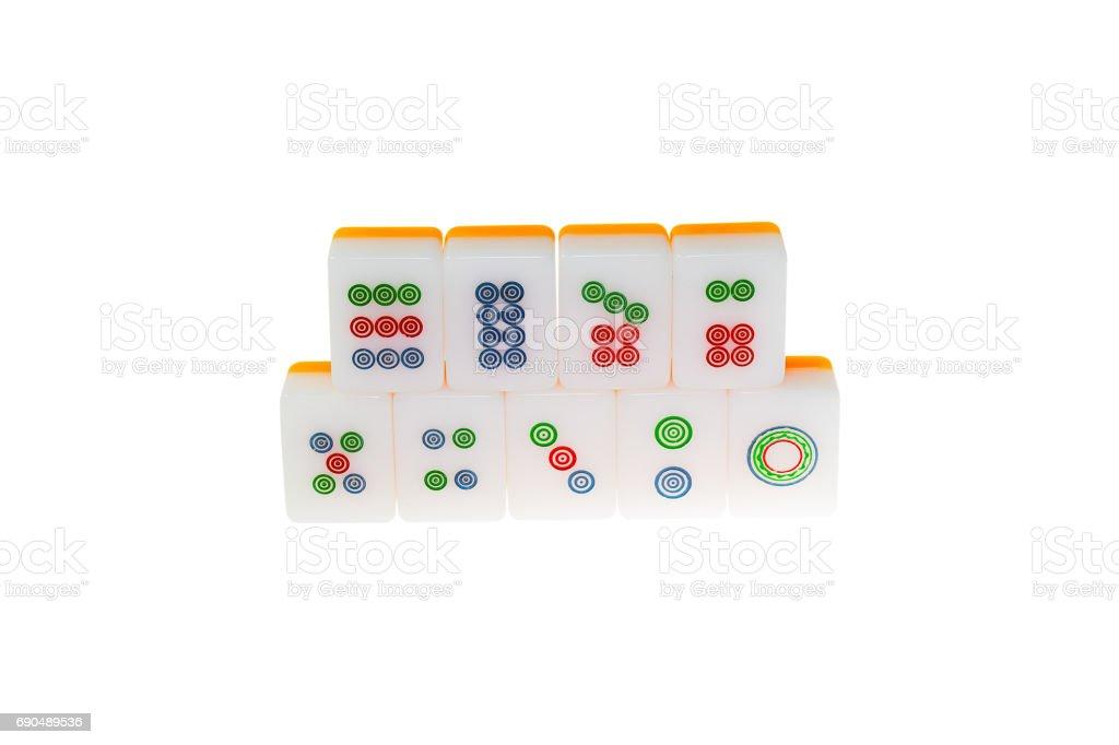 Mahjong Chinese game Isolated stock photo