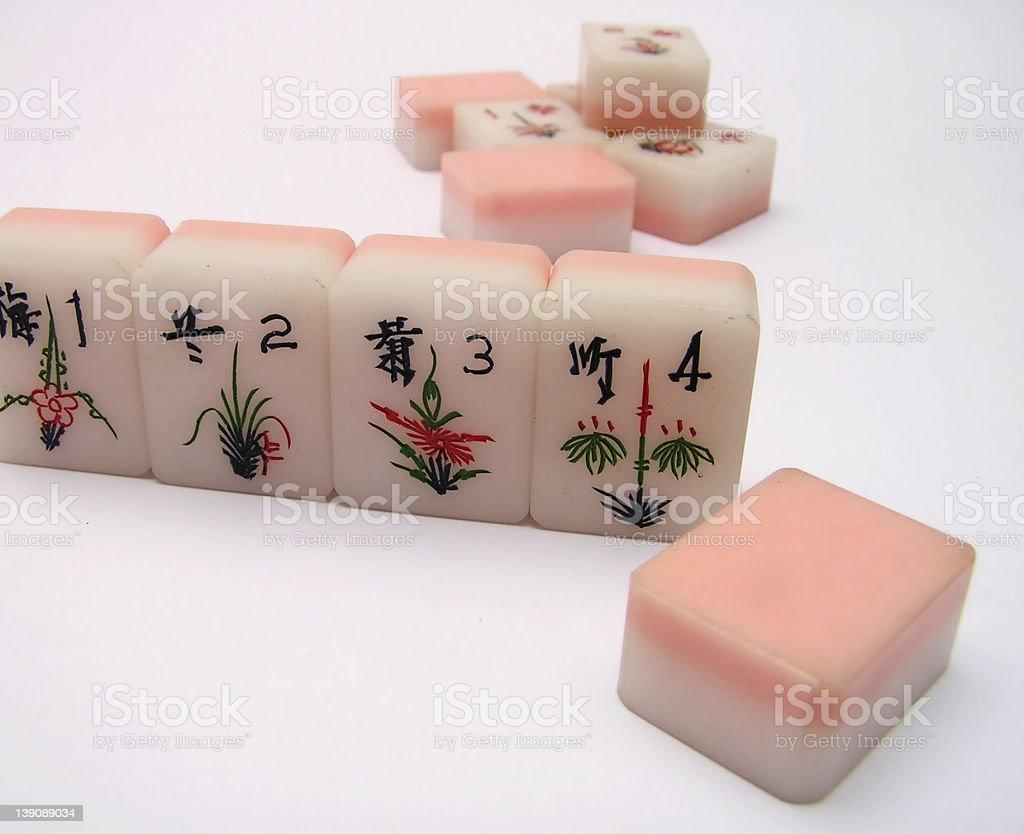 mah-jong tiles #2 royalty-free stock photo