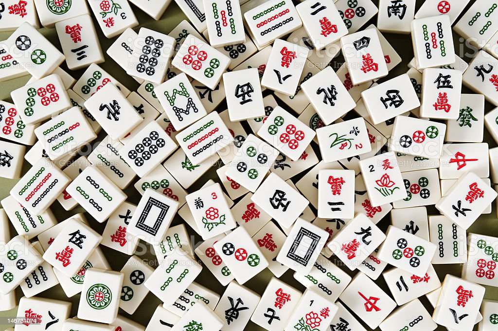 Mahjong, mahjongg, let's play it. royalty-free stock photo
