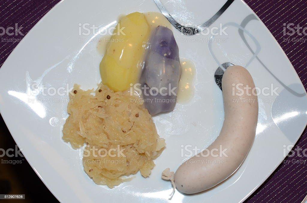 Mahlzeit Weißwurst stock photo