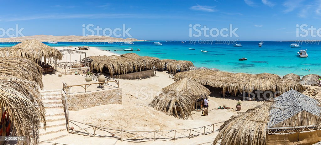Mahmya Beach on the island in the Red Sea, Egypt stock photo