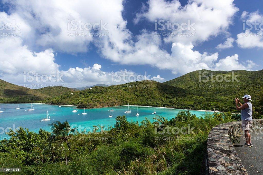 Maho Bay Overlook stock photo