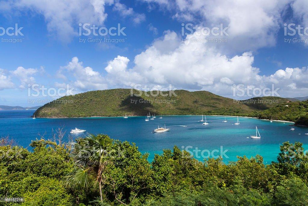 Maho Bay stock photo