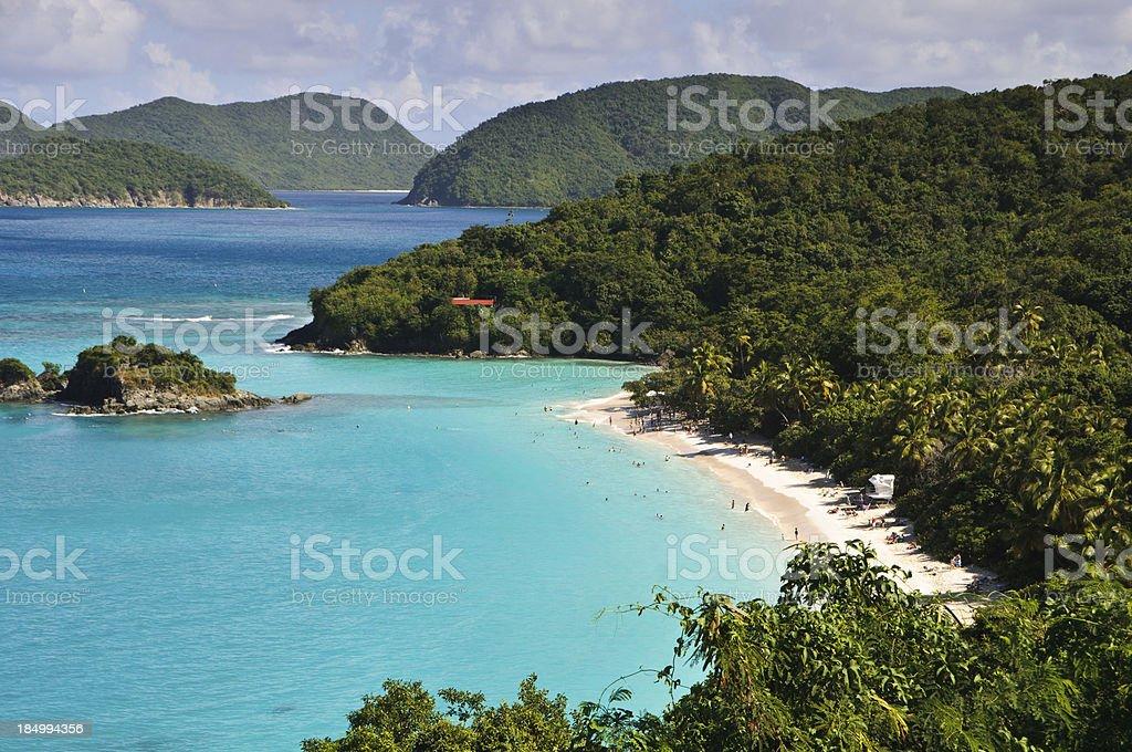 Maho Point Beach stock photo
