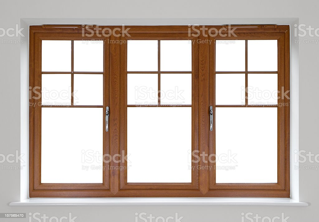 Mahogany double glazed windows royalty-free stock photo