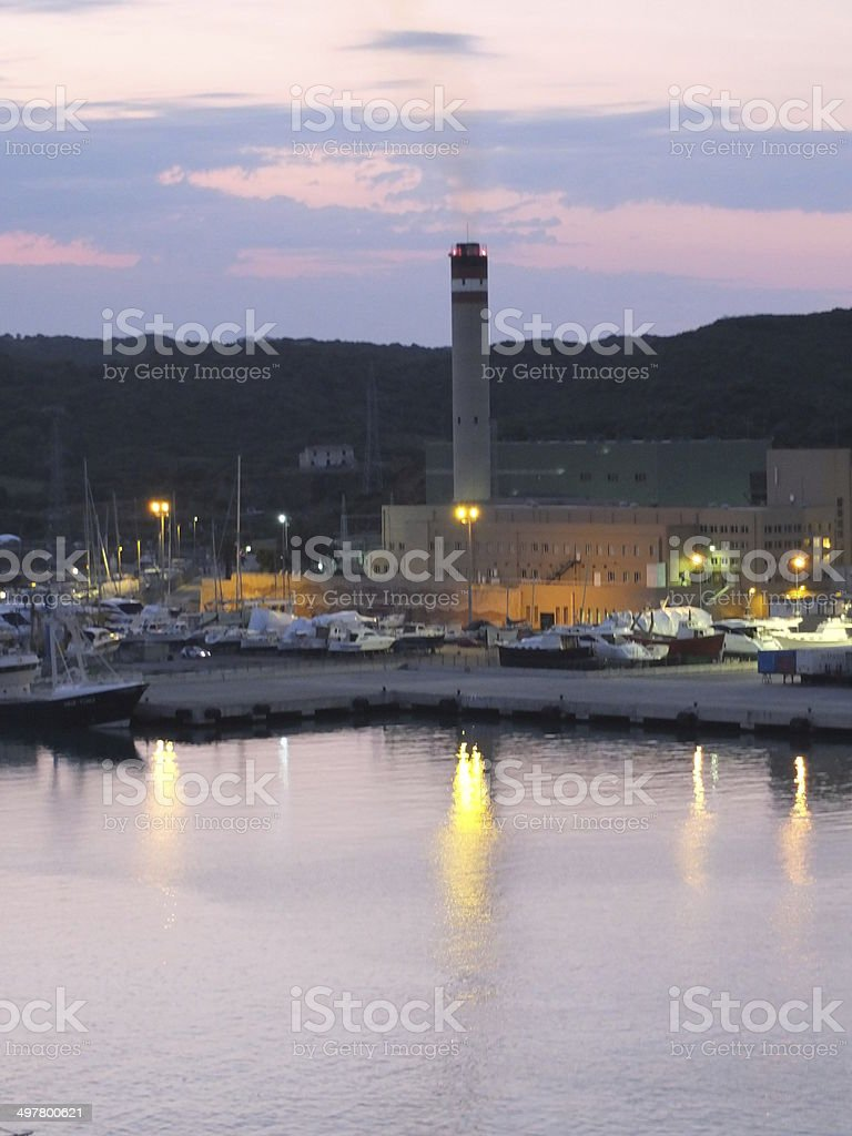 Mahon Harbour At Sunset stock photo