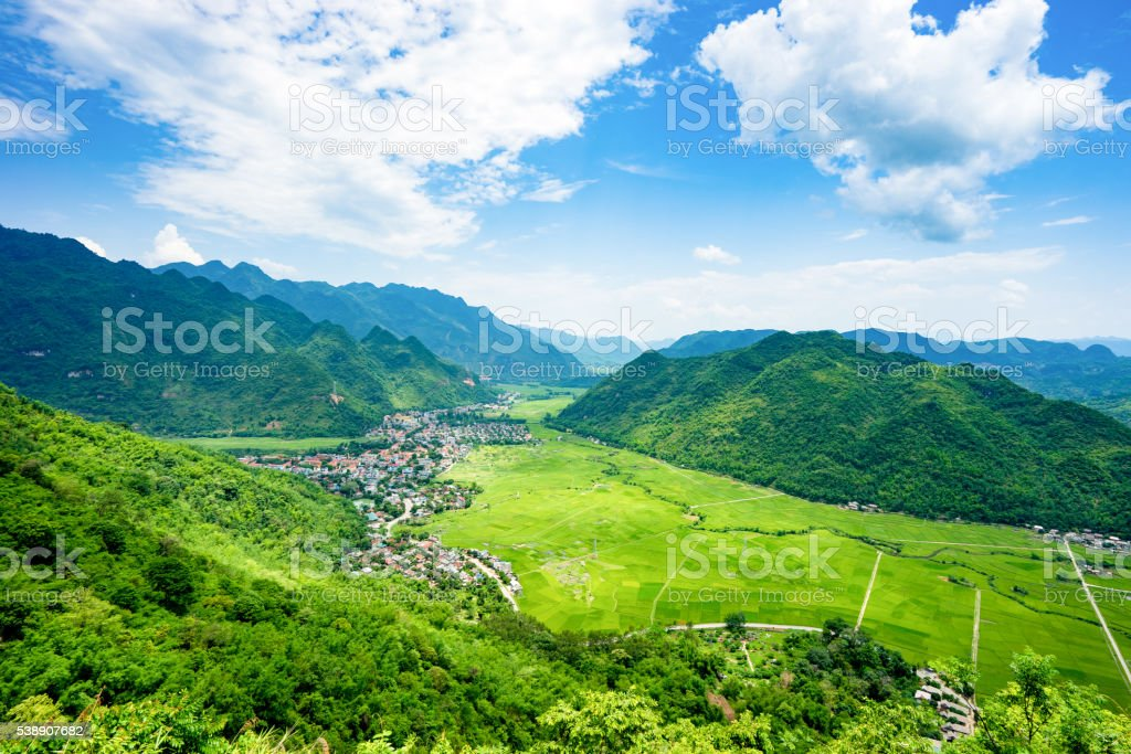 Mai Chau Valley, Hoa Binh province, VietNam stock photo