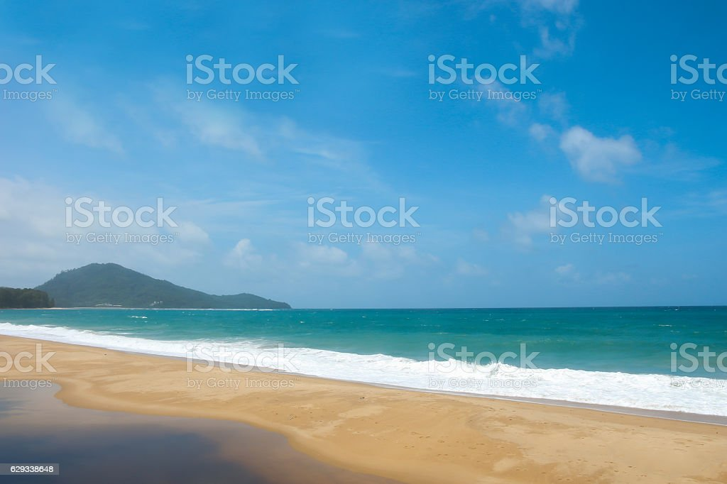 Mai Khao Beach. stock photo