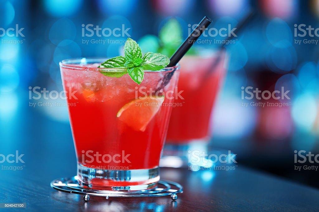 Mai Tai cocktail stock photo