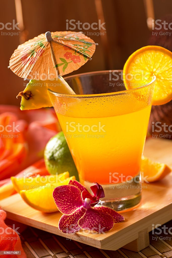 Mai Tai Cocktail stock photo