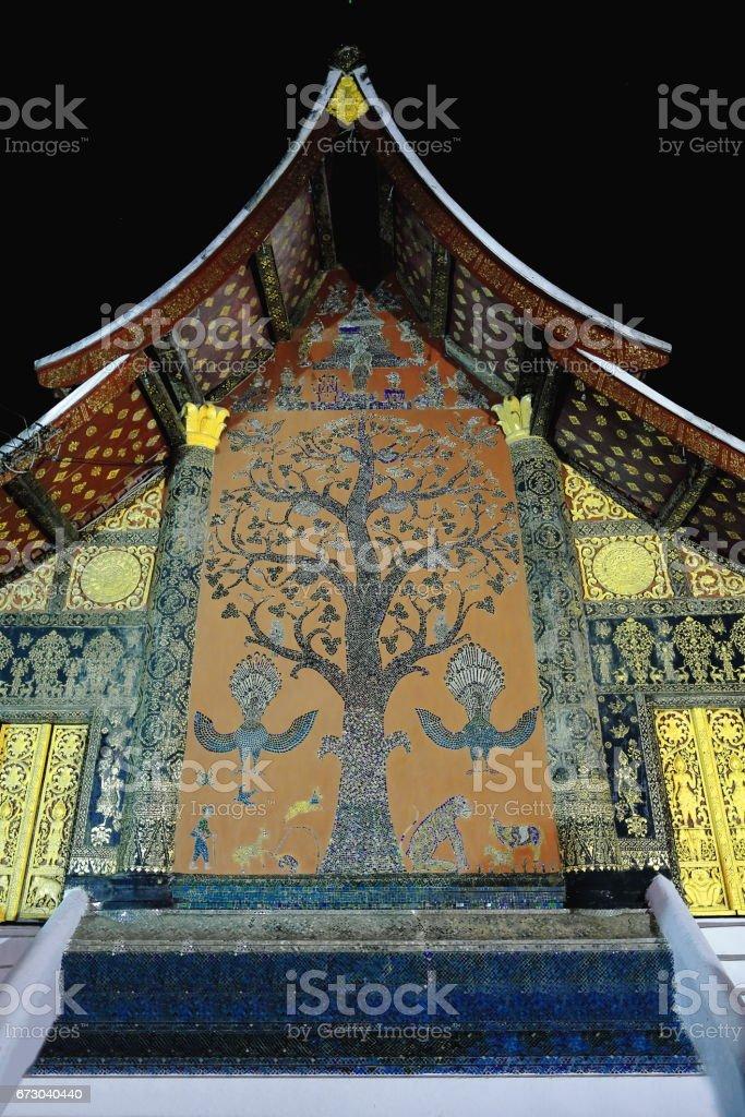 Mai Thong-Tree of life mosaic. Wat Xieng Thong-Luang Prabang-Laos. 4310 stock photo