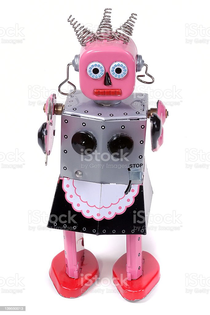 Maid 5 - vintage robot toy royalty-free stock photo