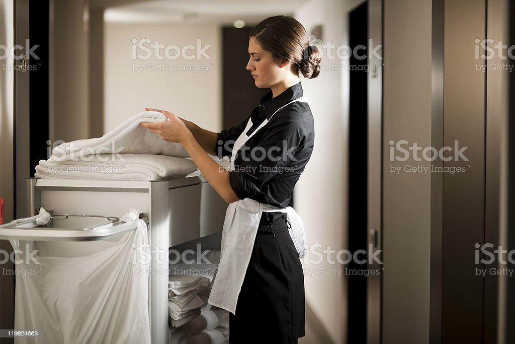 Maid At Work stock photo