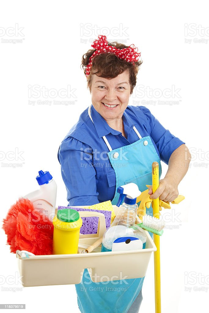 Maid At Your Service royalty-free stock photo