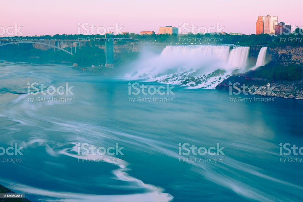 Maid of the mist waterfalls, Niagara Falls stock photo