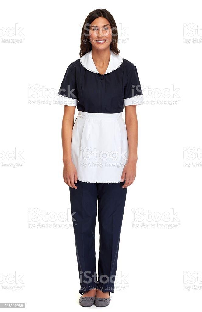 Maid woman. stock photo