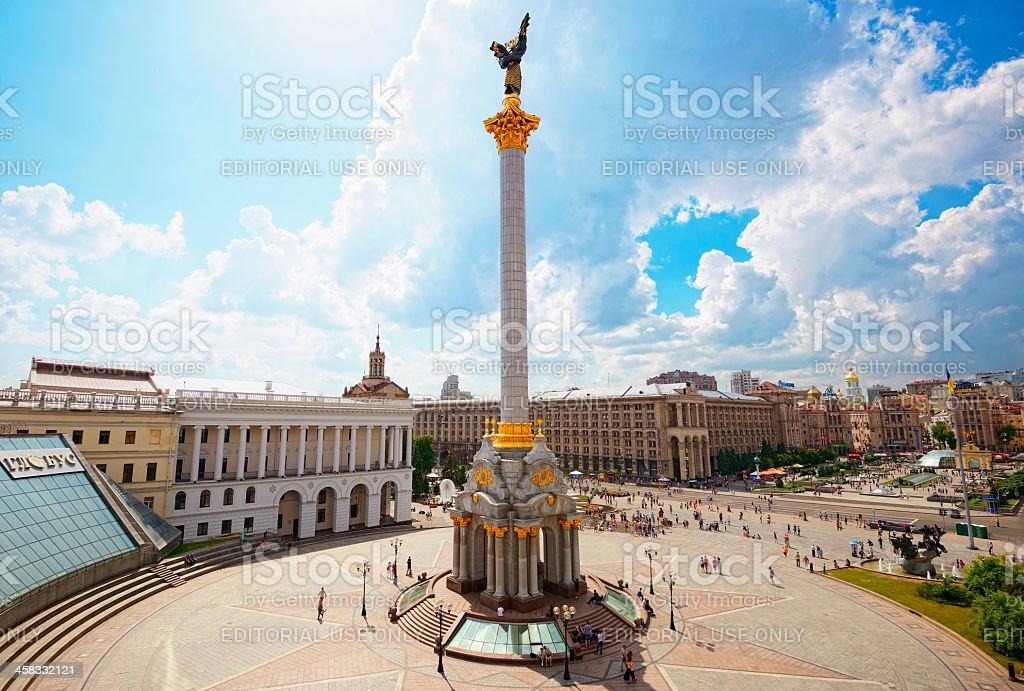 Maidan Nezalezhnosti (Independence Square) stock photo