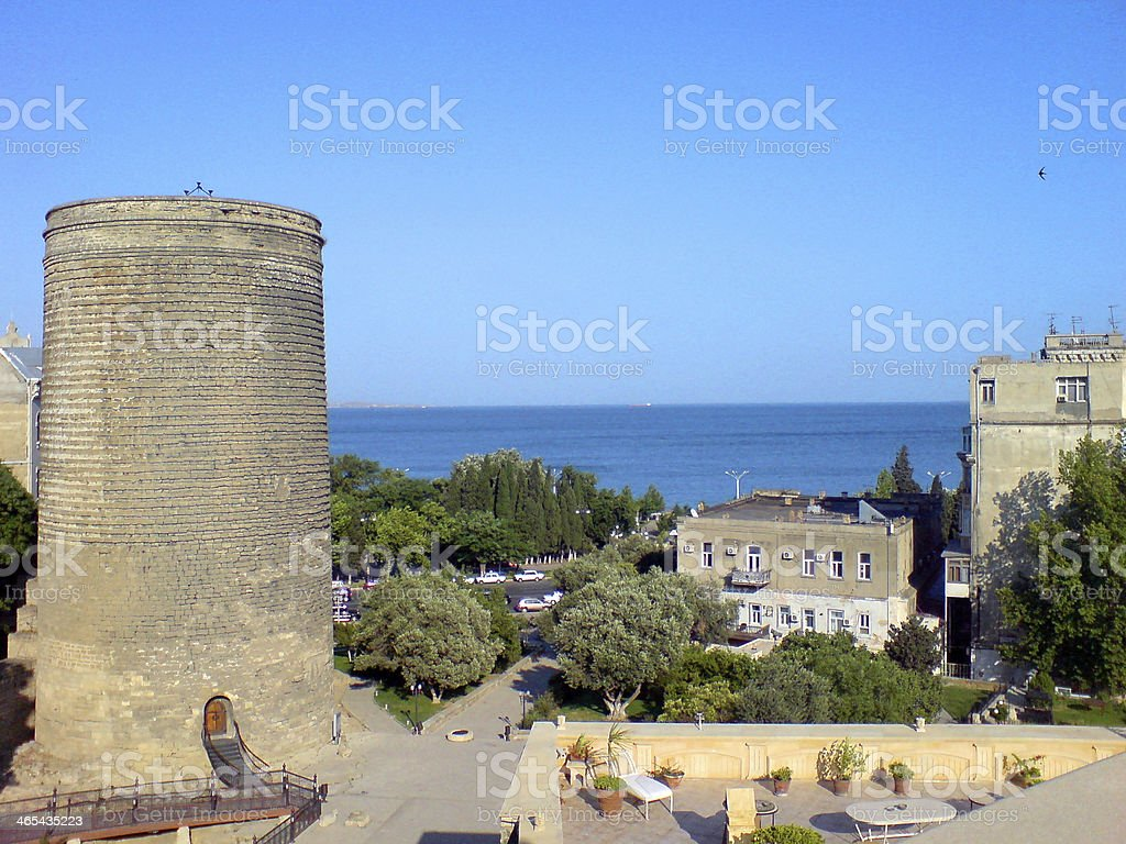 Maiden Tower, Baku, Azerbaijan royalty-free stock photo