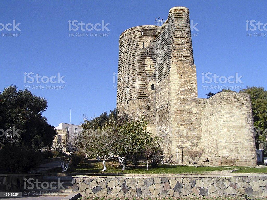 Maiden Tower, Baku, Azerbaijan royalty-free stock photo