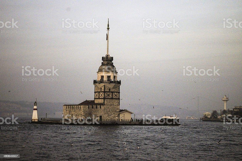 Maiden Tower in ?sk?dar, ?stanbul stock photo