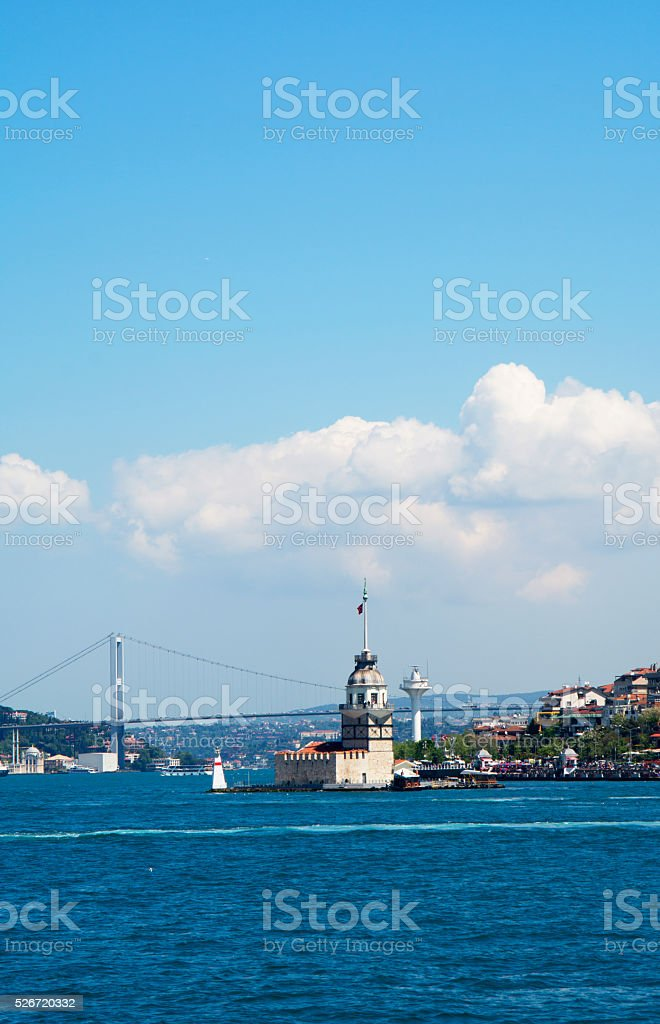 maiden tower İstanbul stock photo