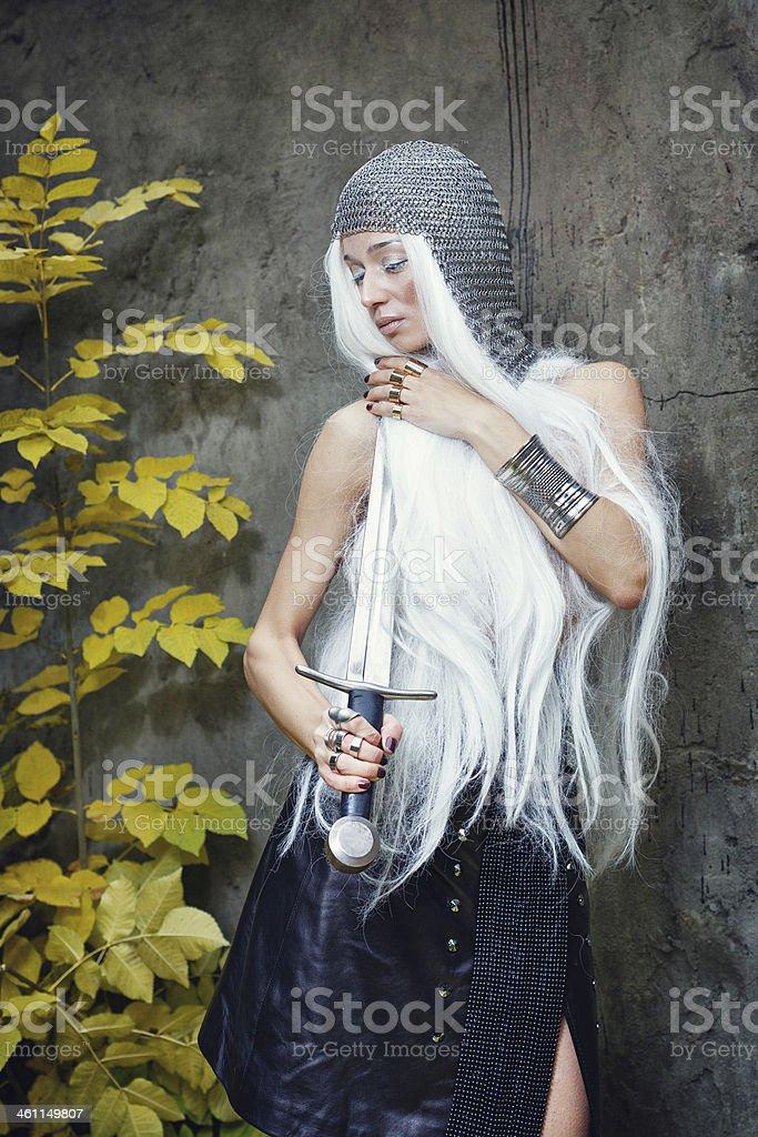 Maiden Warriors royalty-free stock photo