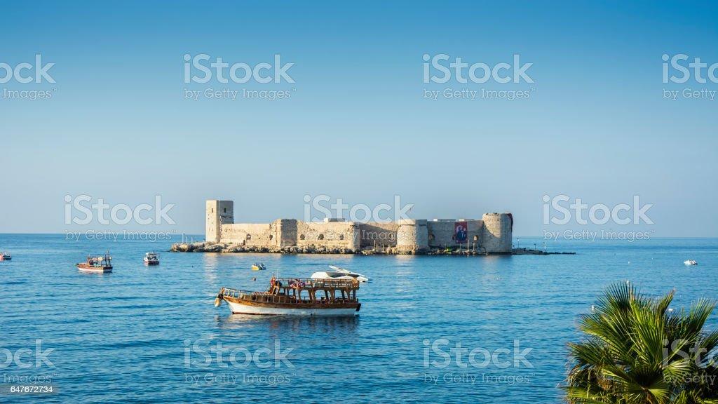 Maiden's castle (kizkalesi) mersin,Turkey stock photo