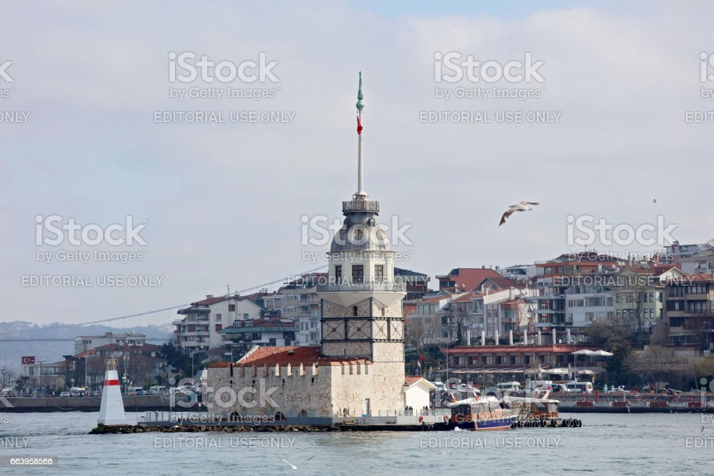 Maiden's Tower, also known as the Leander's Tower stock photo