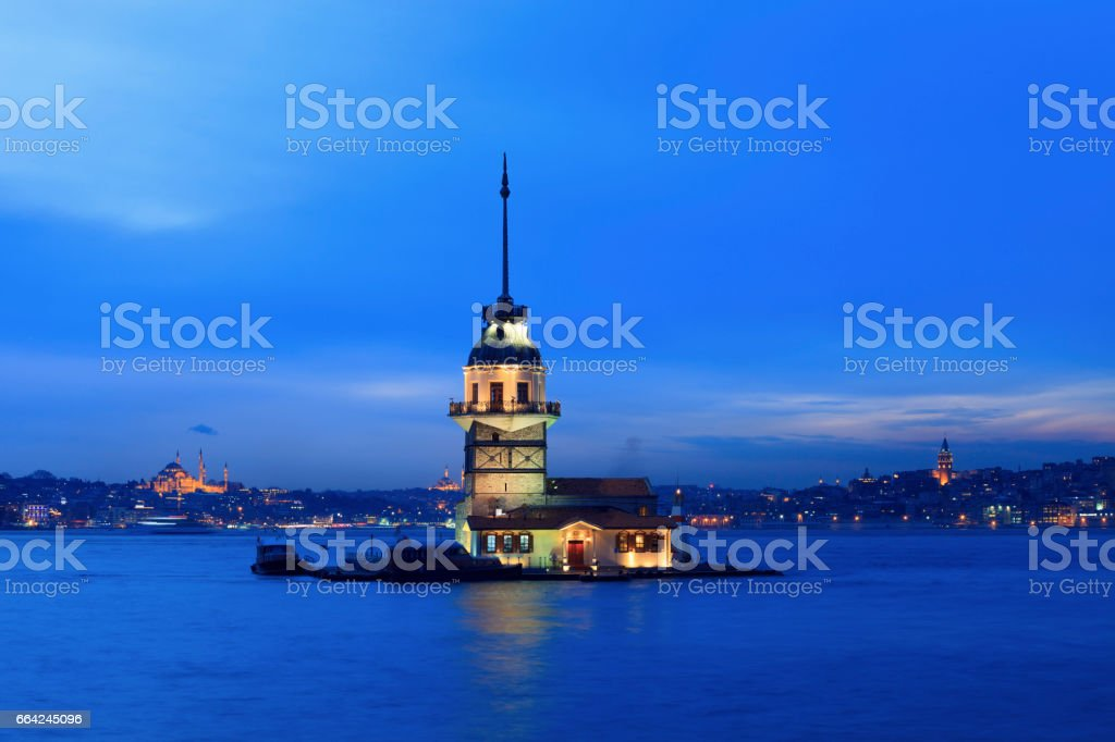 Maidens tower in Istanbul stock photo