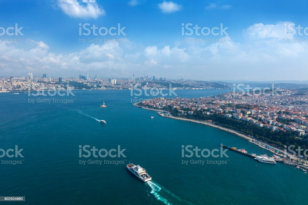 Maiden's tower in İstanbul stock photo