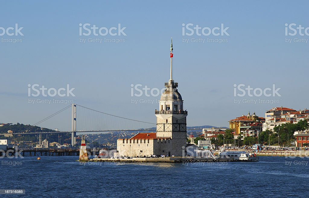 Maiden's Tower, Istanbul royalty-free stock photo