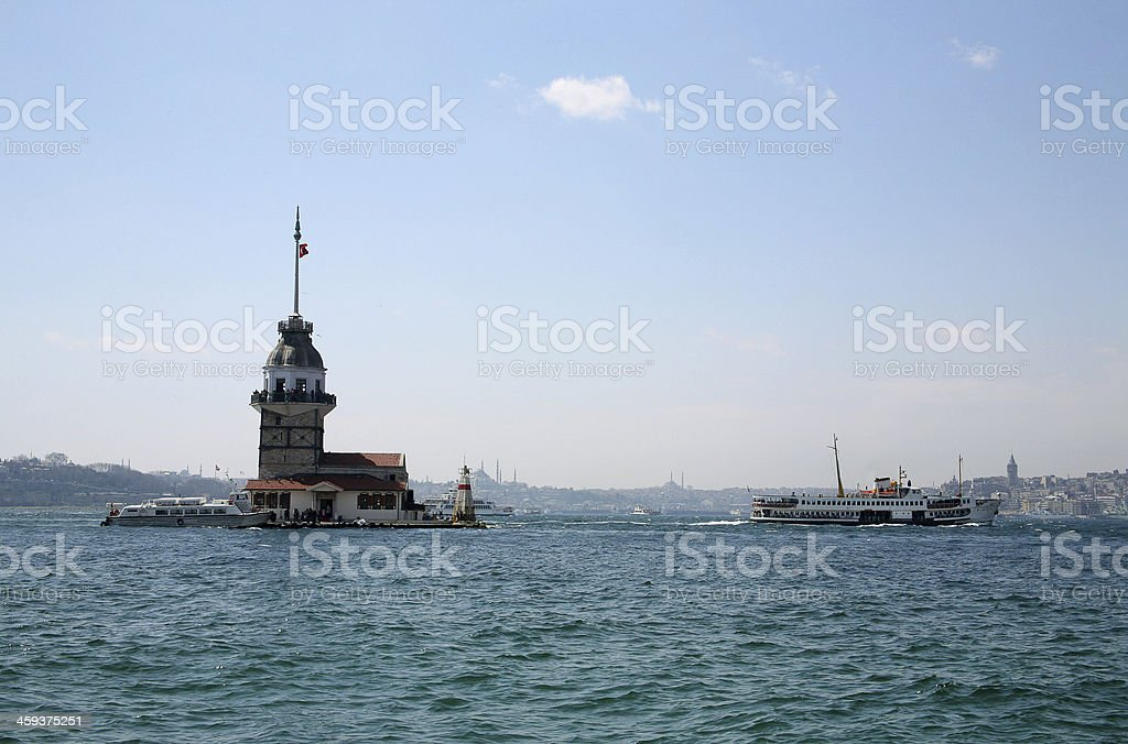 Maidens Tower / Istanbul stock photo